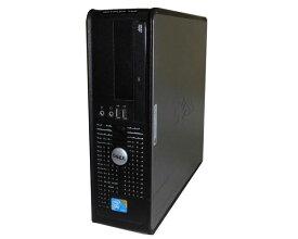 中古パソコン デスクトップ Vista DELL OPTIPLEX 760 SFF Core2Duo E7500 2.93GHz 2GB 80GB DVD-ROM