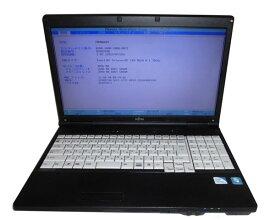 ジャンク 難あり OSなし 富士通 LIFEBOOK A552/E (FMVNA6FE) Celeron-B820 1.7GHz 2GB HDDなし DVD-ROM 中古ノートパソコン