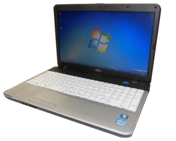 第2世代 Corei3搭載(2コア4スレッド) 中古ノートパソコン Windows7 富士通 LIFEBOOK A531/DXCore i3 2330M 2.2GHz/2GB/250GB/DVDマルチWin7Pro/テンキー/2012年製