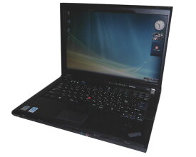 難あり 中古ノートパソコン Vista Lenovo ThinkPad T400 7417-T5J Core2Duo P8400 2.2GHz/2GB/160GB/DVDマルチ