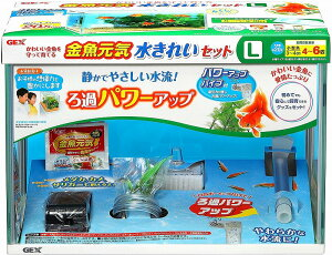 GEX 金魚元気 水きれいセットL水槽セット