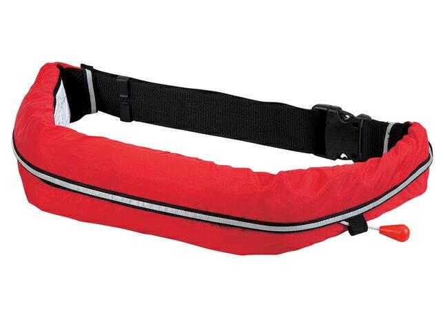 自動膨張式 ライフジャケット ベルト式/オーシャンWR-1型レッド 国交省認定品 タイプA 検定品 桜マーク付
