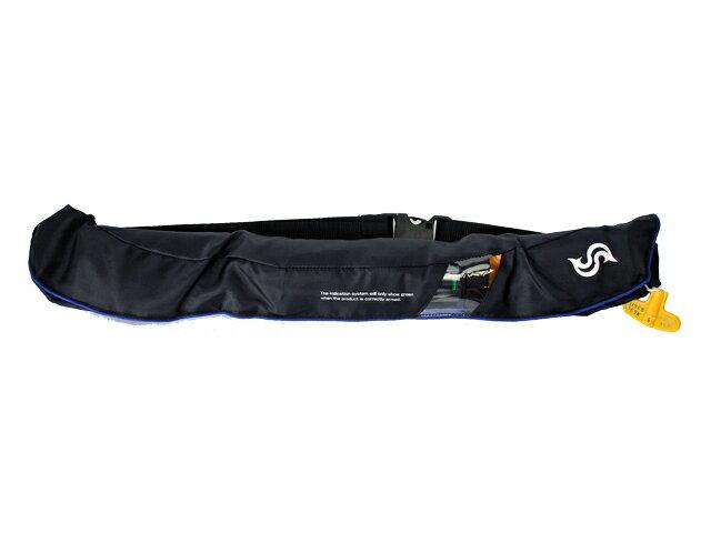 自動膨張式 ライフジャケット ベルト式/ 高階 ブルーストーム BSJ-5520RS ブラック×ブルー 国交省認定品TYPE-A 検定品