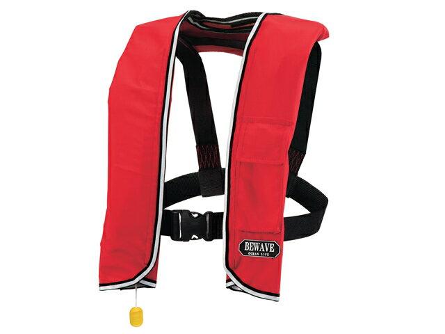手動膨張式 ライフジャケット 肩掛式 オーシャンLG-3型 MI レッド 国交省認定品 タイプA 検定品 桜マーク付