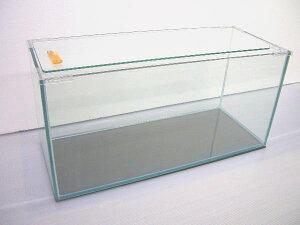 角大型 スリム水槽 ガラス水槽 90×30×36 (10mm特別厚ガラス使用)フタ フタ受け 保護マット付き