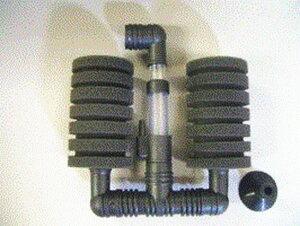 スポンジフィルター 小二連 XY-2831 (100リッター以下水槽用) 3個