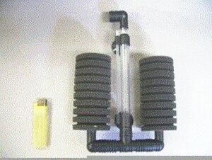 スポンジフィルター XY-2822 中2連型 (150リッター以下水槽用) 3個
