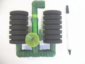 スポンジフィルター Pー002 小2連型 (100リッター以下水槽用)