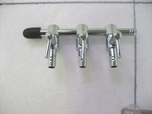 金属製 エアーコック 三方分岐 連結式 × 10個 【業務用 化粧包装なし 特価】