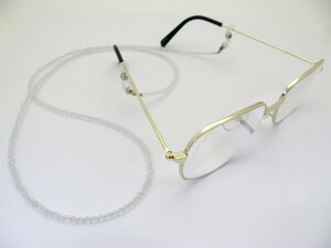 天然石 メガネチェーン 本水晶カット玉 4mm玉メガネチェーン パワーストーン 眼鏡チェーン グラスコード
