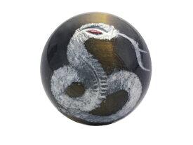 白蛇 (赤目)虎目石 手彫り玉 銀色入り 横穴 12mm玉 ヘビ(へび) 一粒売り 天然石 パワーストーン