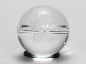 水晶 桜 白彫り 12mm玉 【彫刻 一粒売りビーズ】 天然石 パワーストーン