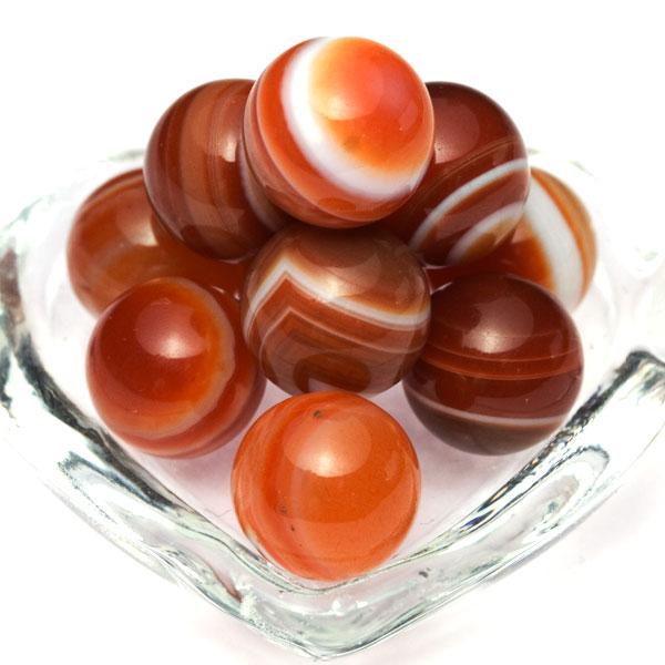 【置き石】丸玉 10mm サードオニキス(赤天眼) 【穴なし一粒売りビーズ】 天然石 パワーストーン