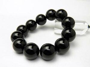 【ENDLESS_18mmブレスレット】オニキス 大玉シンプルブレスレット 数珠 ブレスレット 天然石 パワーストーン
