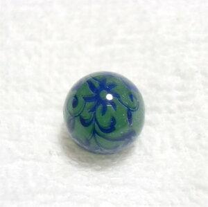 天然石プリントビーズ 天然石プリントビーズ:アベンチュリン12mm(ブルーフラワー) 1個売り 天然石 風水 パワーストーン バラ売り