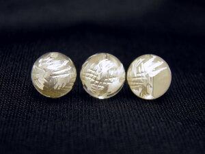 青龍(水晶)10mm 白彫り【彫刻 一粒売りビーズ】天然石 パワーストーン