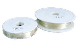 シリコンゴム糸 透明 0.7mm&1.0mm ブレスレット作成にオススメ