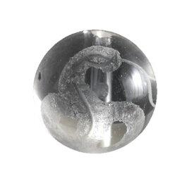 彫刻ビーズ 水晶 白蛇 14mm 縦穴 一粒売り 天然石 パワーストーン