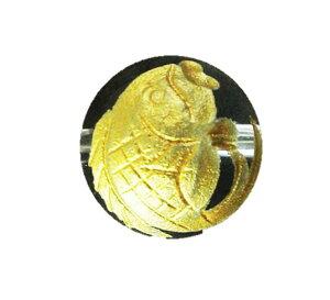 鯛 手彫り玉(金入り) 10mm 一粒売り 手作りにオススメ! 天然石 パワーストーン