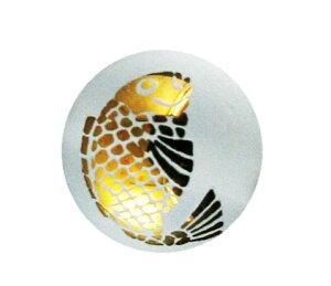 鯛 水晶チタンメッキ(金色)12mm【彫刻 一粒売りビーズ】 天然石 風水 パワーストーン