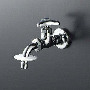 KVK 送り座付吐水口回転形水栓(ツバ付ワンタッチノズル付) K111BNJ 送料無料