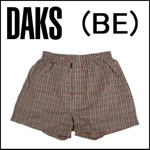 【DAKS LONDON】ダックス紳士メンズ 布帛トランクスハウスチェック ミニパンツ前開き【送料無料】