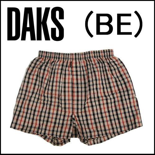 【DAKS LONDON】ダックス紳士メンズ 布帛トランクスハウスチェックパンツ前開き【送料無料】