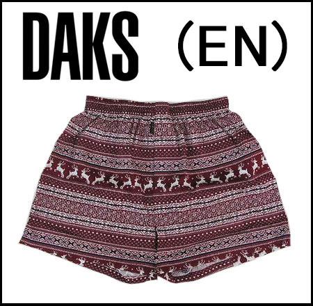 【DAKS LONDON】ダックス紳士メンズ 布帛トランクスパンツ前開きゆったりLLサイズ【送料無料】