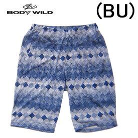 【BODYWILD for MEN】ボディワイルド メンズ グンゼ半パンツ ハーフパンツゆったりLLサイズ幾何学柄イエナカファッションルームパンツパジャマアンダー2020 新作春夏物