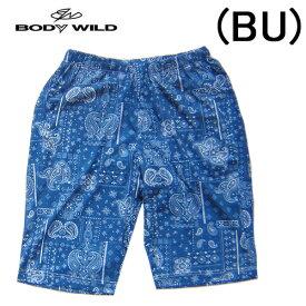 【BODYWILD for MEN】ボディワイルド メンズ グンゼ半パンツ ハーフパンツゆったりLLサイズバンダナ風の柄イエナカファッションルームパンツパジャマアンダー2020 新作春夏物