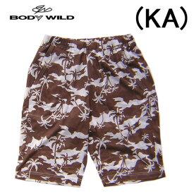 【BODYWILD for MEN】ボディワイルド メンズ グンゼ半パンツ ハーフパンツゆったりLLサイズヤシの木柄イエナカファッションルームパンツパジャマアンダー2020 新作春夏物