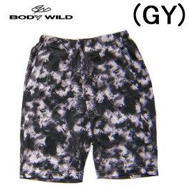 【BODYWILD for MEN】ボディワイルド メンズ グンゼ半パンツ ハーフパンツタイダイ風の柄イエナカファッションルームパンツパジャマアンダー2020 新作春夏物