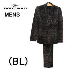 【BODYWILD for MEN】『ボディワイルド メンズ 紳士』長袖メンズパジャマ送料無料ギフトラッピング無料お見舞いお誕生日プレゼントに最適メンズ 秋冬物ルームウエアナイトウエア