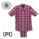 【アングル】J.PRESSジェイプレスパジャマ 前開き半袖メンズパジャマ綿100%送料無料父の日内祝いお見舞い 快気祝いお…