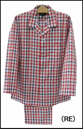 【REGAL】リーガルパジャマ 前開き長袖メンズパジャマ【送料無料】【ギフトラッピング対応商品】