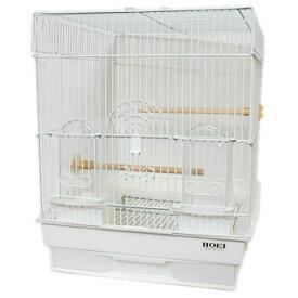 鳥かご HOEI 35角 パステル ホワイト(組立サイズ:370x415x440mm)