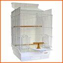 鳥かご ケージ インコ / 35手のり ピュアホワイト 底カラー:ホワイト+おまけ付き♪(組立サイズ:370x415x545mm) 【送料無料】