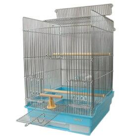 鳥かご HOEI 35手のりG 底カラー:ブルー(組立サイズ:370x415x545mm)