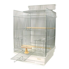 【ポイント5倍】鳥かご HOEI 35手のり ステンレス 底カラー:ホワイト(組立サイズ:370x415x545mm)【送料無料】