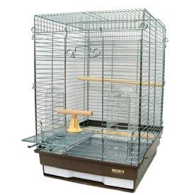 鳥かご HOEI 35手のりホライズン 底カラー:ブラウン (組立サイズ:370x415x545mm)【送料無料】