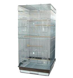 鳥かご HOEI 465ロング 底カラー:ブラウン(組立サイズ:465x465x940mm) ※別途送料加算 / 鳥かご ケージ 大型