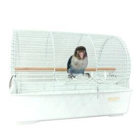 小鳥用キャリー ミレニアムアーチ ホワイト / 鳥かご おでかけ ケージ ※組立済み