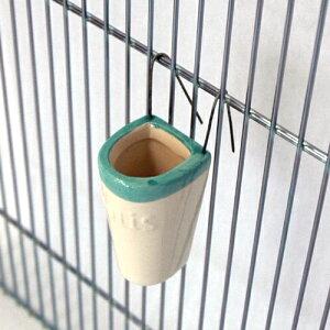 餌入れ 鳥 菜差し 青菜ホルダー / ペッズイシバシ 小鳥のための陶器の野菜入れ