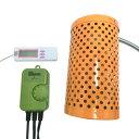 電子サーモスタット+ペットヒーター100W+マルチ湿・温度計 3点保温セット 【送料無料】【あす楽】