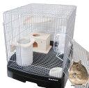 デグー飼育用 イージーホーム40-BKセット / デグー飼育セット ケージ 小動物 スターターセット商品