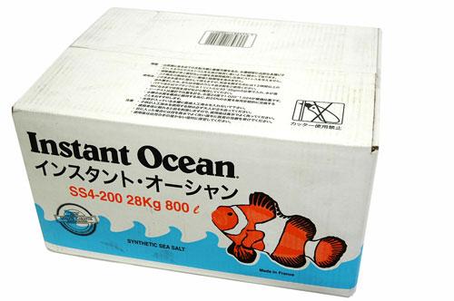 人工海水 インスタントオーシャン800L(箱入り)200Lx4個入り ※同梱不可【代金引換及び沖縄県は別途送料加算】