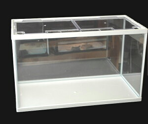 テトラ ホワイトアクアリウム60cmガラス水槽(サイズ:610x310x362mmフタ付) ※別途送料加算