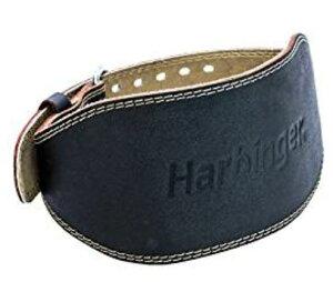 ハービンジャー HARBINGER 6インチパッド入りレザーベルト ブラック(幅約15センチ) 96-120センチ(XL)