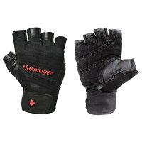 ハービンジャーフィットネスHarbingerFitnessトレーニンググローブ(リストラップ付)ブラックWristWrapGlovesトレーニング手袋Mサイズ