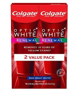 2個セット【最新版】コルゲート Colgate オプティックホワイト リニュー ホワイトニング 歯磨き粉 ハイインパクト ホワイト 85g【お得な 2本セット】Optic White Renewal High Impact White
